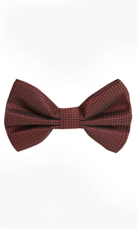 HTML - Maroon Gingham Bow Tie