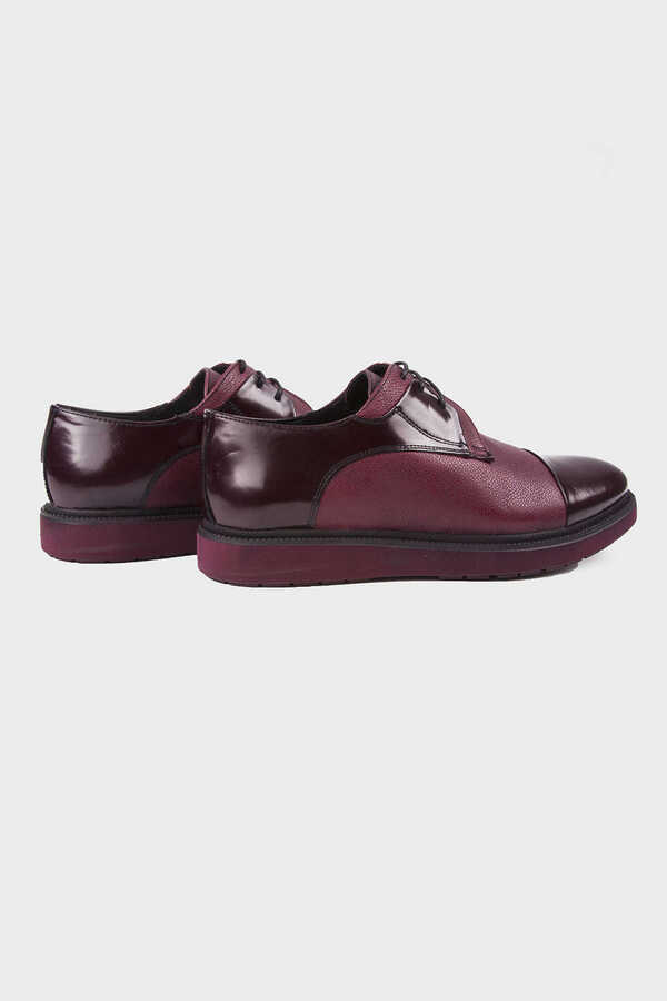 Hatemoğlu - Maroon Leather Casual Shoes