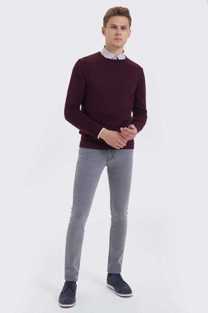 Hatem Saykı - Maroon Wool Crew Neck Sweater