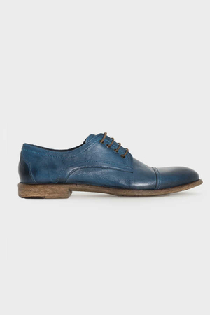 Mid Blue Oxford Shoes - Thumbnail