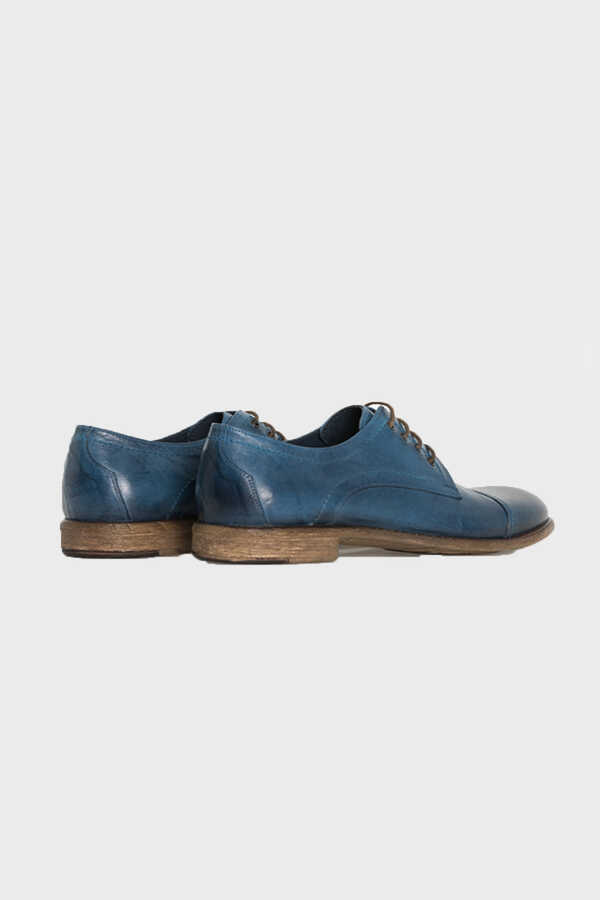 Hatem Saykı - Mid Blue Oxford Shoes