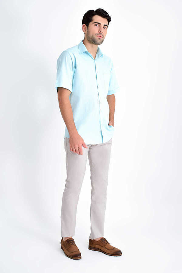 Hatemoğlu - Mid Blue Short Sleeve Shirt