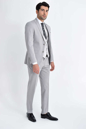 Hatemoğlu - Mink Slim Fit 3-Piece Suit
