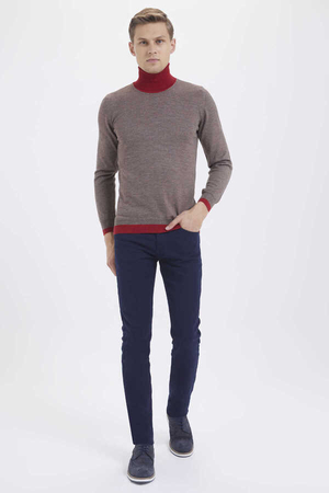 Hatem Saykı - Mink Wool Turtleneck Sweater