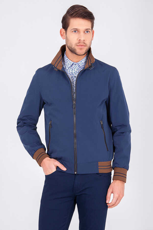 Navy Casual Jacket - Thumbnail