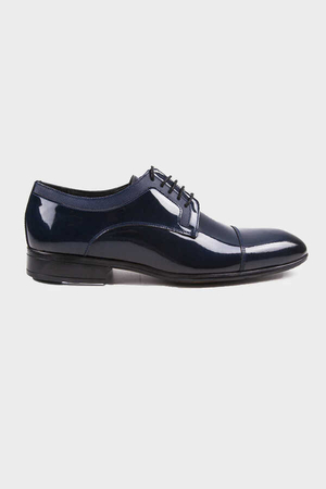 Navy Classic Oxford Shoes - Thumbnail