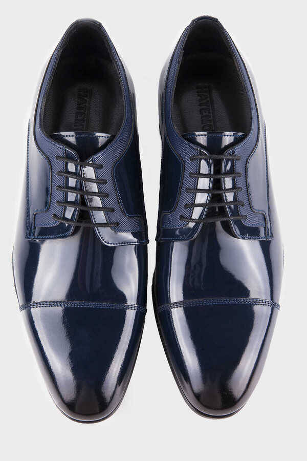 Navy Classic Oxford Shoes