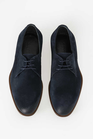 Navy Classic Suede Shoes - Thumbnail