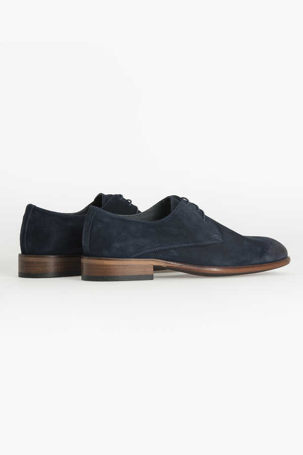 Hatem Saykı - Navy Classic Suede Shoes