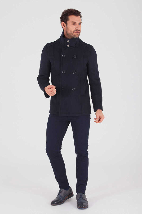 Hatem Saykı - Navy Double Breasted Coat