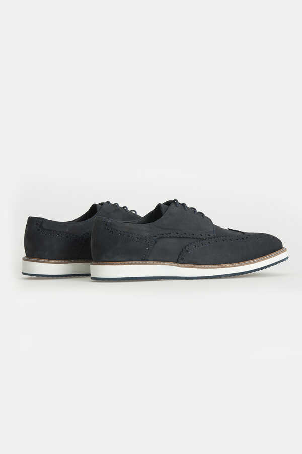 Hatem Saykı - Navy Leather Casual Shoes