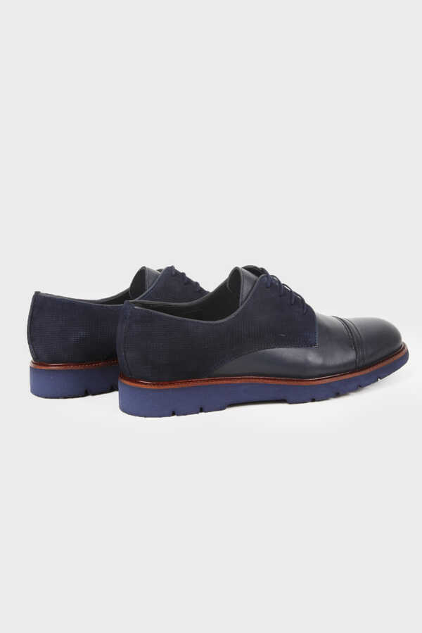 Hatemoğlu - Navy Leather Casual Shoes