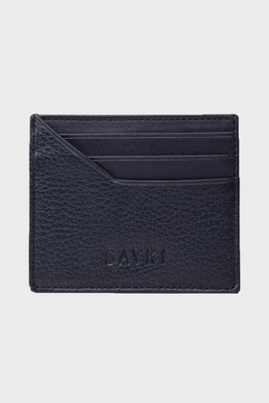 Navy Leather Wallet - Thumbnail