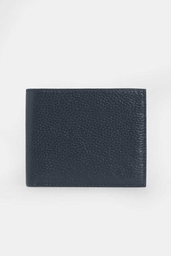 Hatem Saykı - Navy Leather Wallet