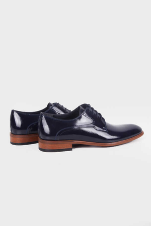 Hatem Saykı - Navy Patent Leather Tuxedo Shoes