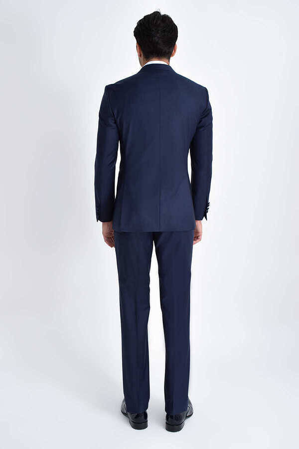 Navy Peak Lapel Slim Fit 3-Piece Tuxedo
