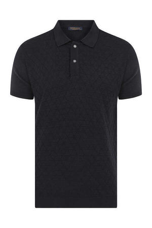 Hatem Saykı - Navy Printed Polo Shirt