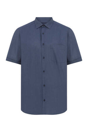Navy Short Sleeve Dress Shirt