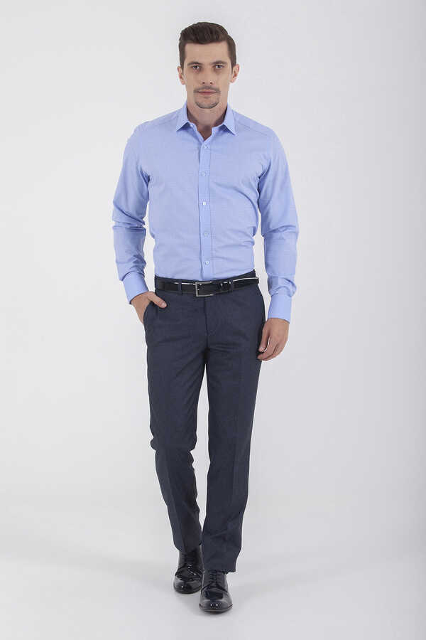 Hatemoğlu - Navy Slim Fit Dress Pants