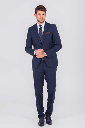 Navy Slim Fit Suit - Thumbnail