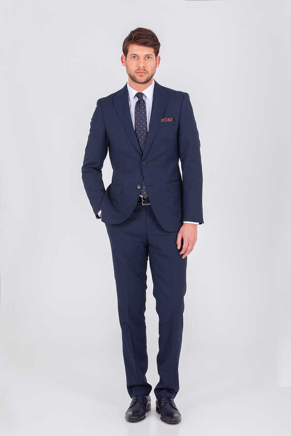 Hatem Saykı - Navy Slim Fit Suit