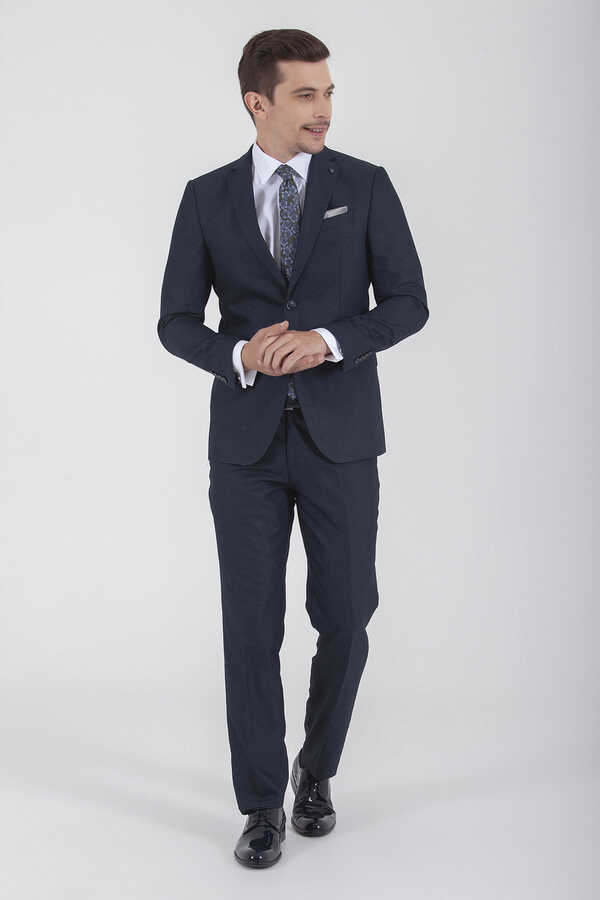 Hatemoğlu - Navy Slim Fit Suit