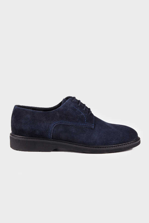 Navy Suede Casual Shoes - Thumbnail