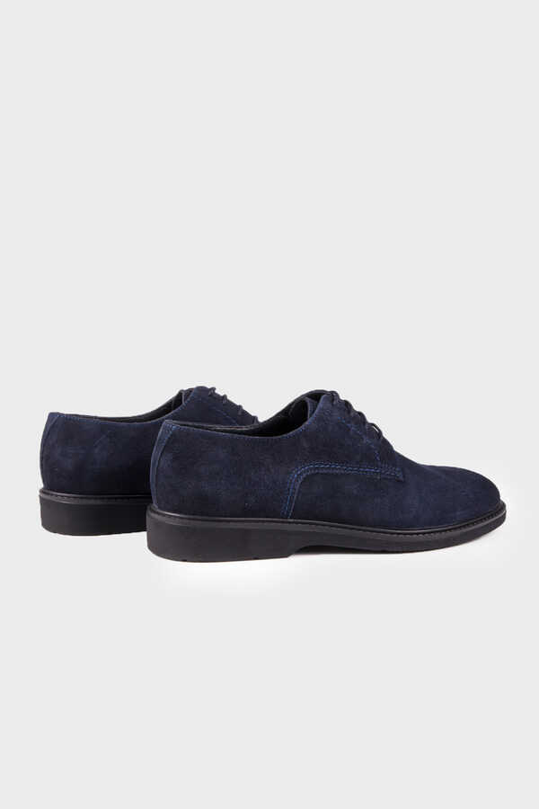 HTML - Navy Suede Casual Shoes
