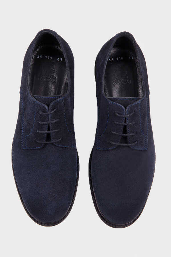 Navy Suede Casual Shoes