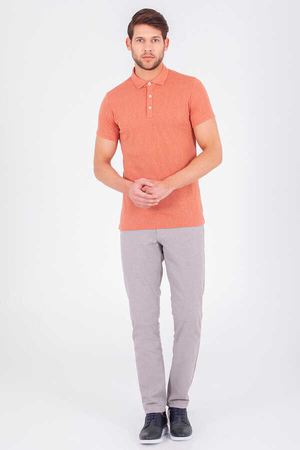 HTML - Orange Basic Polo Shirt