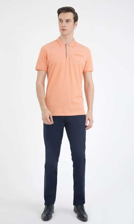 Hatemoğlu - Orange Printed Polo T-Shirt