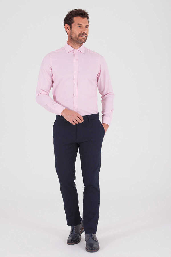 Hatemoğlu - Pink Dobby Slim Fit Dress Shirt