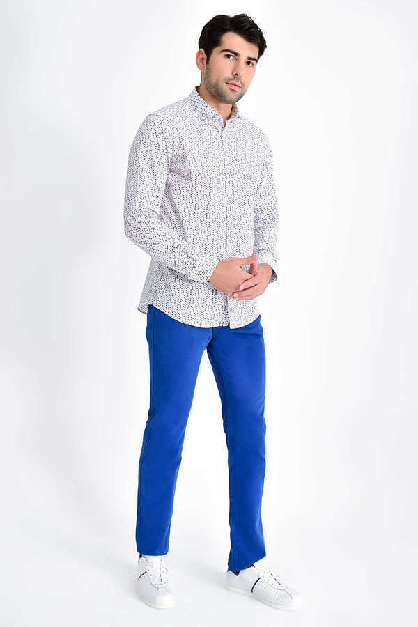 HTML - Pink Printed Slim Fit Shirt