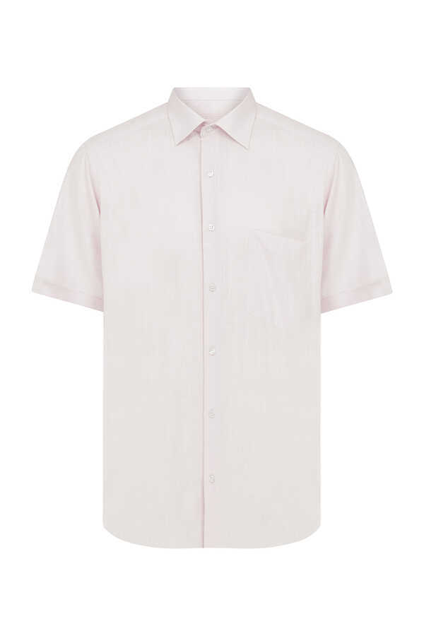 Hatemoğlu - Pink Short Sleeve Dress Shirt