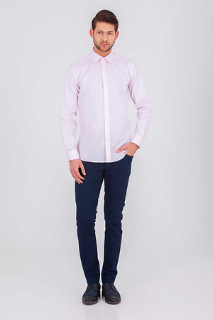 HTML - Pink Slim Fit Plain Shirt