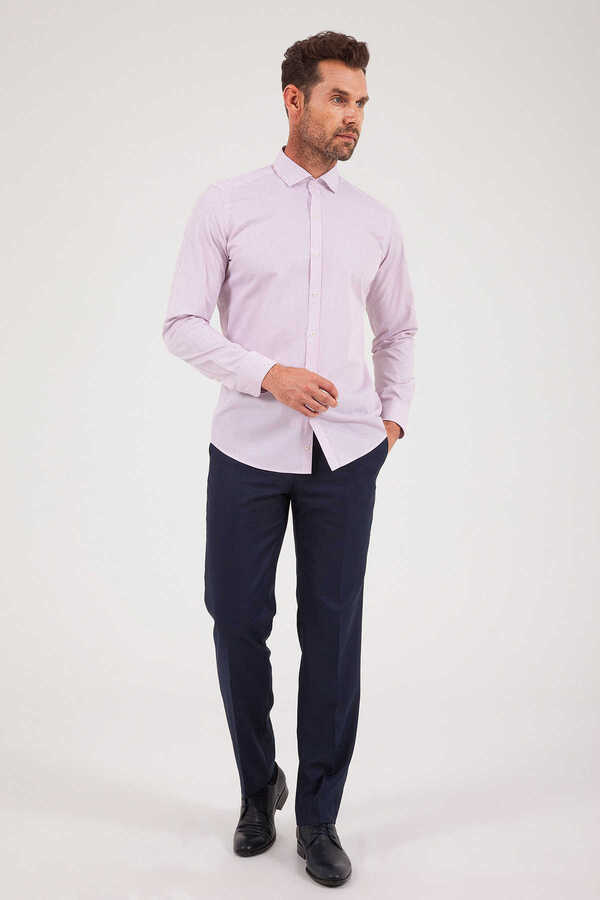 Hatem Saykı - Pink Striped Slim Fit Shirt