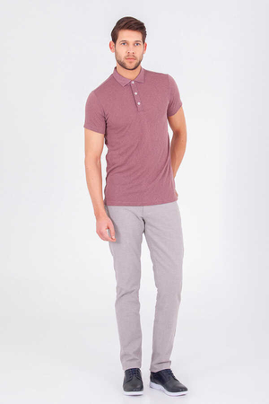 HTML - Purple Basic Polo T-Shirt