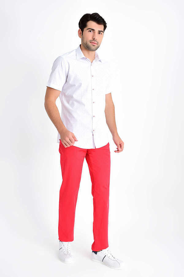 Hatemoğlu - Red Printed Short Sleeve Shirt