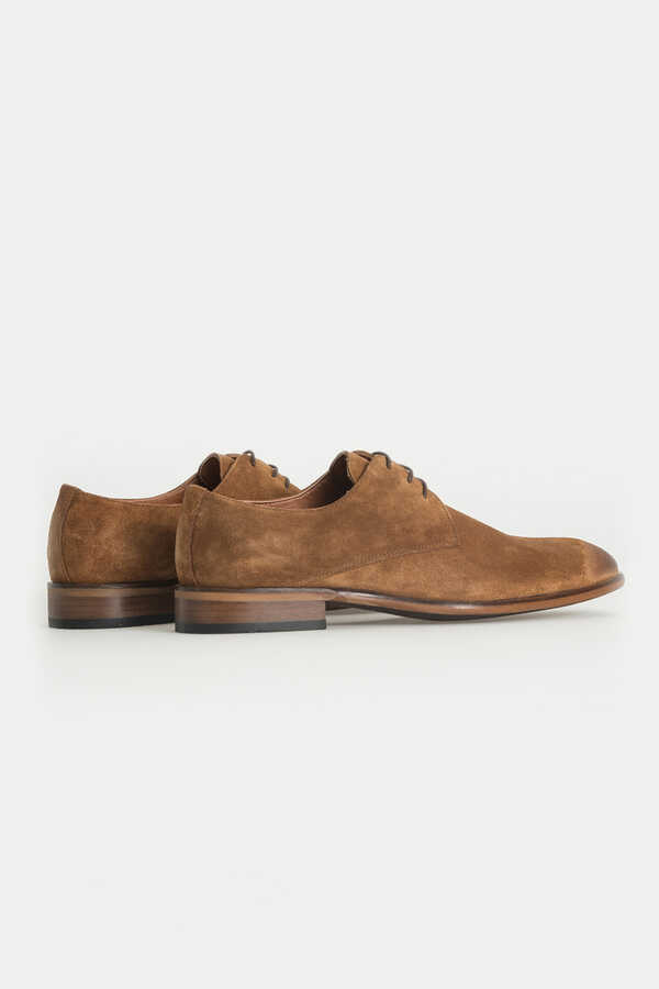 Hatem Saykı - Tan Classic Suede Shoes