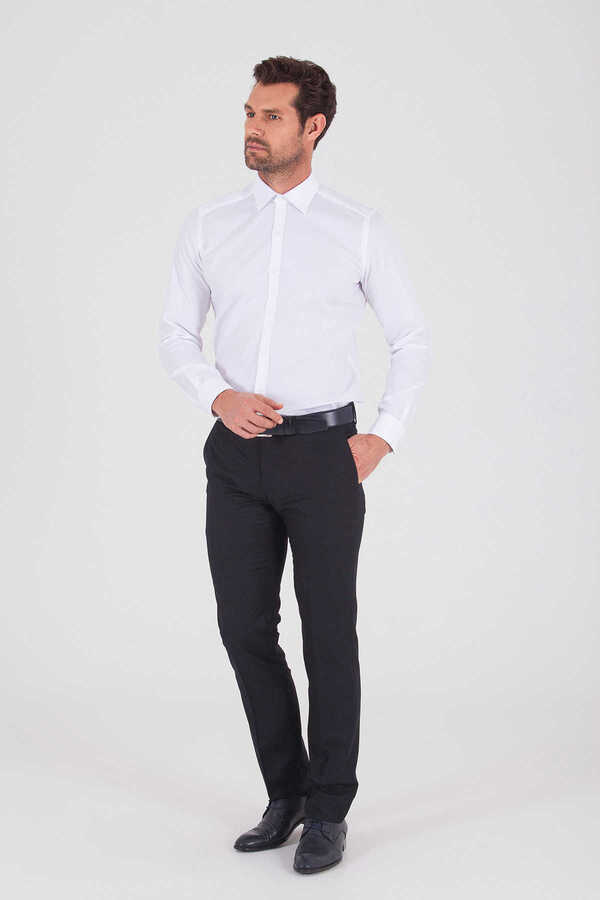 Hatem Saykı - White Dobby Dress Shirt