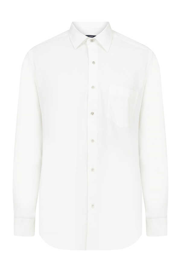 Hatem Saykı - White Dobby Slim Fit Shirt