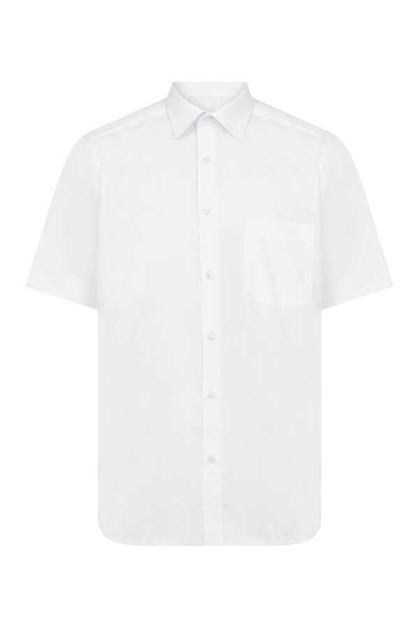Hatemoğlu - White Pocket Plain Dress Shirt