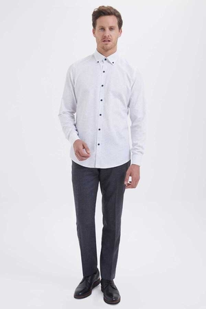 Hatem Saykı - White Printed Casual Shirt