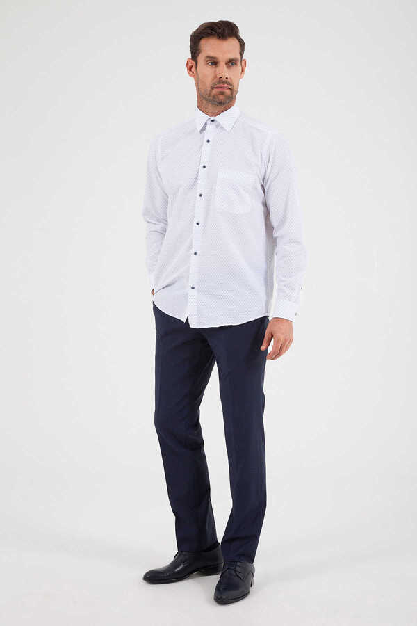 Hatemoğlu - White Printed Dress Shirt