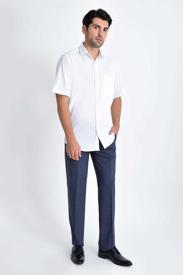 Hatemoğlu - White Printed Short Sleeve Shirt