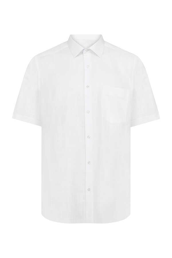 Hatemoğlu - White Short Sleeve Dress Shirt
