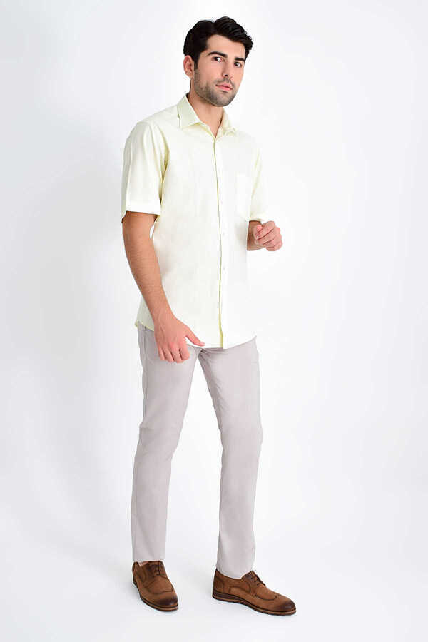 Hatemoğlu - Yellow Short Sleeve Shirt