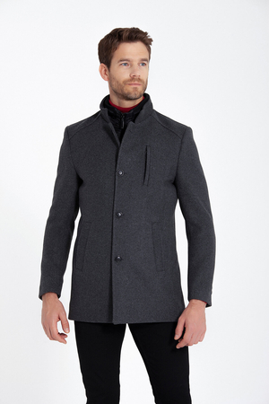 Hatemoğlu - Grey Wool Overcoat