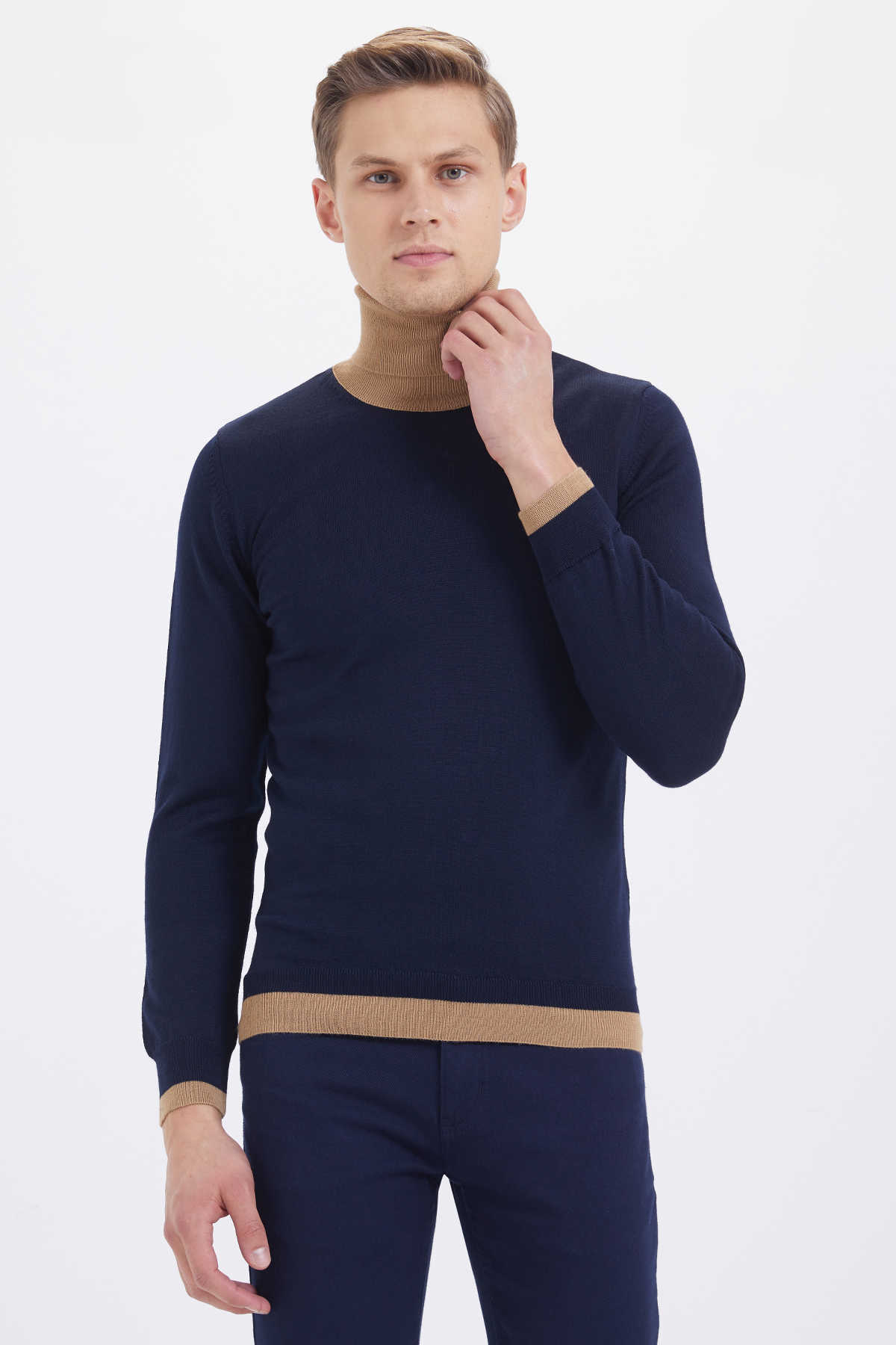 HATEM SAYKI - Navy - Camel Sweater