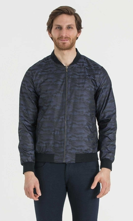 Hatem Saykı - Navy Patterned Jacket